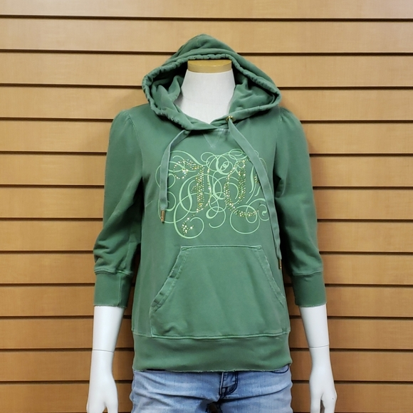 Juicy Couture Distressed Hoodie Size - Med…